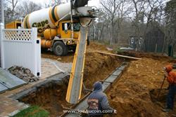 Click to view album: Footing Pour - 4/16/2010